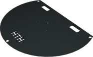Base Plate - 1m diameter - Half Round
