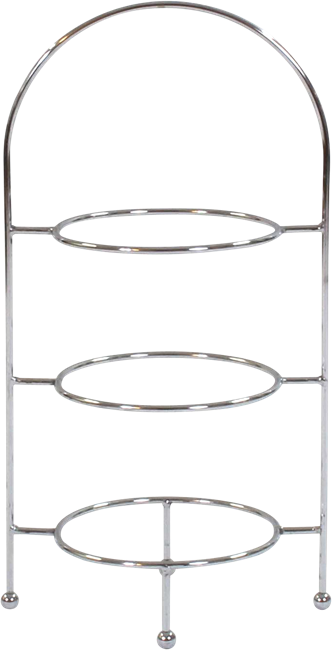 Cake Stand Three Tier - Stainless Steel