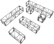 8ft 500mm Box Truss
