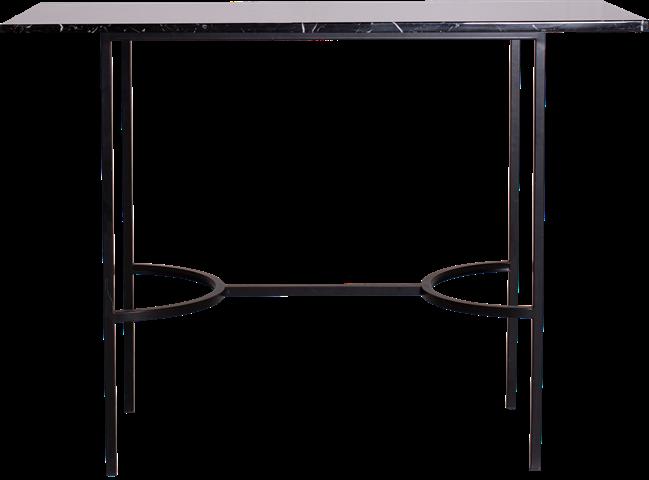 Black Arc Bar Table - Rectangle