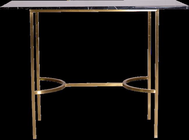Gold Arc Bar Table - Rectangle