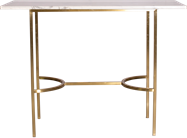 Gold Arc Bar Table - Rectangle