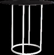 White Arc Large Round Bar Table