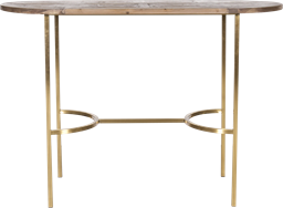 Gold Arc Bar Table - Oblong