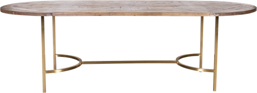 Gold Arc Dining Table - Oblong