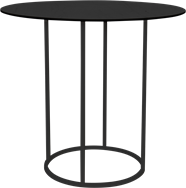 Black Arc Large Round Bar Table