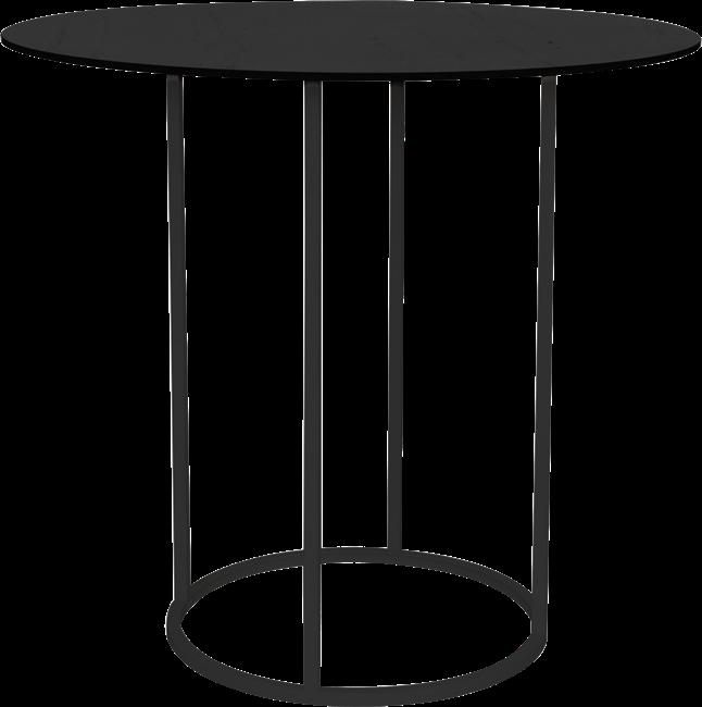 Black Arc Large Round Bar Table