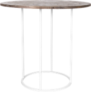White Arc Large Round Bar Table