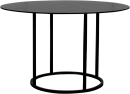 Black Arc Dining Table
