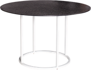White  Arc Dining Table