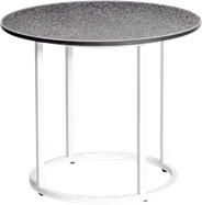 White Arc Side Table