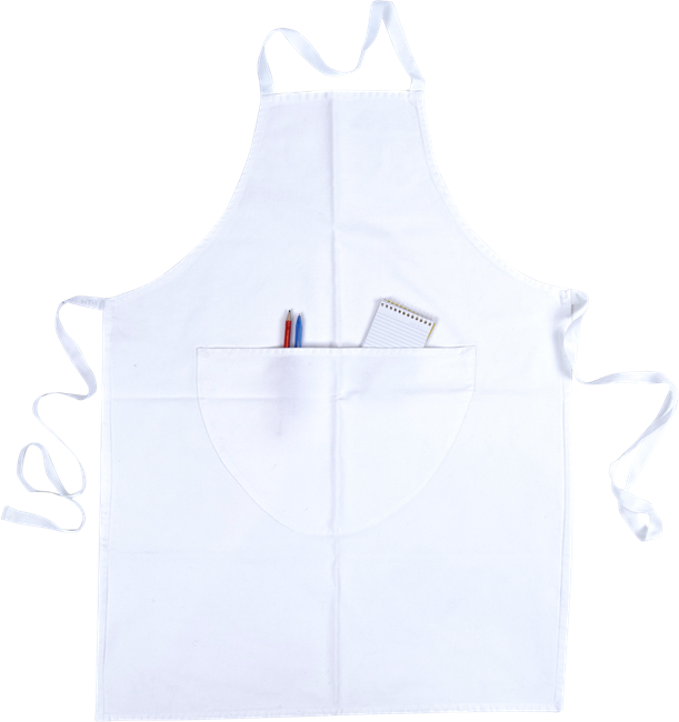 Apron - White Bib - Short