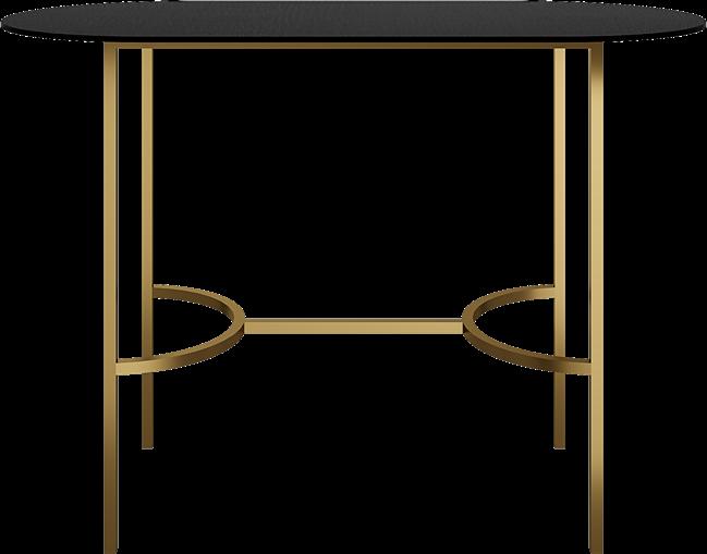 Gold Arc Bar Table - Oblong