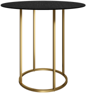 Gold Arc Large Round Bar Table