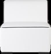 Aspen Single Lounge - White