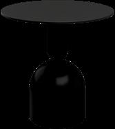 Black Ava Cafe Table - 80cm Rd