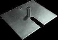 Base Plate 0.6 x 0.6 m  & Spigot