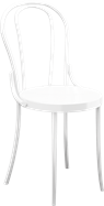 Bentwood Chair - White Resin
