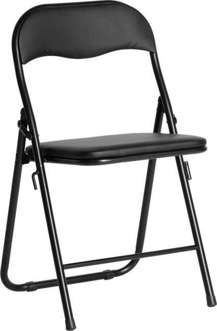 Black Padded Chair
