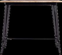 Timber Tolix Bar Table - 120 x 60cm Rect