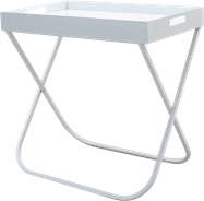 Butler Tray with Stand - White -  800 x 500 x 795mm H