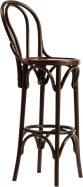 Bentwood Stool with Back