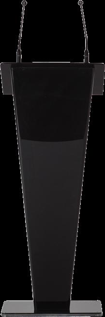 Black Acrylic Lectern - V shape
