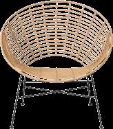 Capri Feature Armchair - Natural - Black Legs