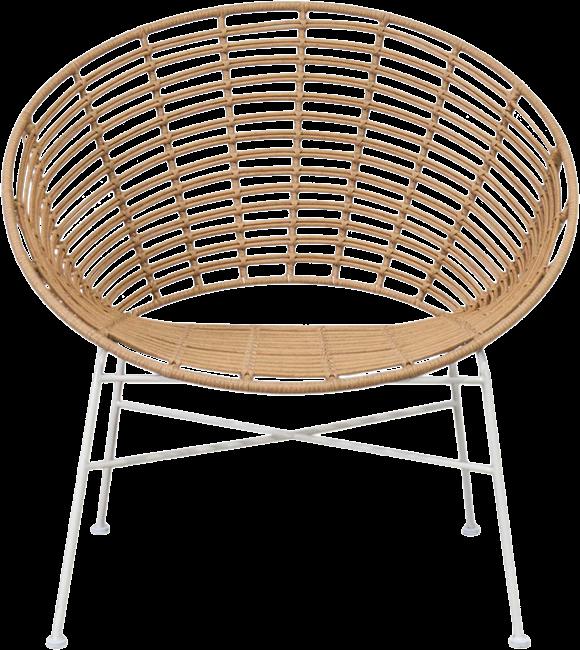 Capri Feature Armchair - Natural - White Legs
