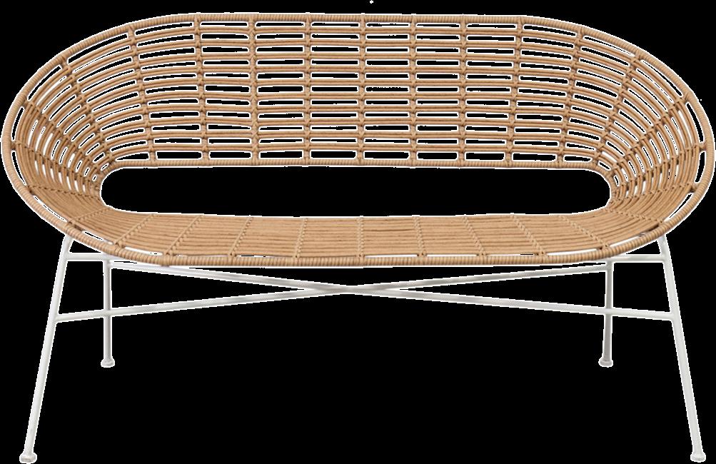 Capri Lounge - Natural - White Legs