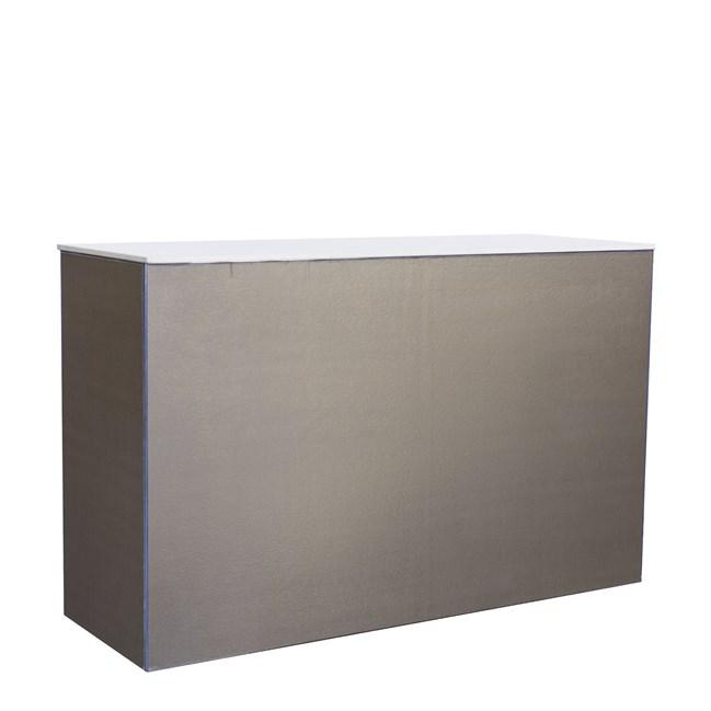Chameleon Service Bar - Gold Twill - White Top - 60 x 180 x 110cm H