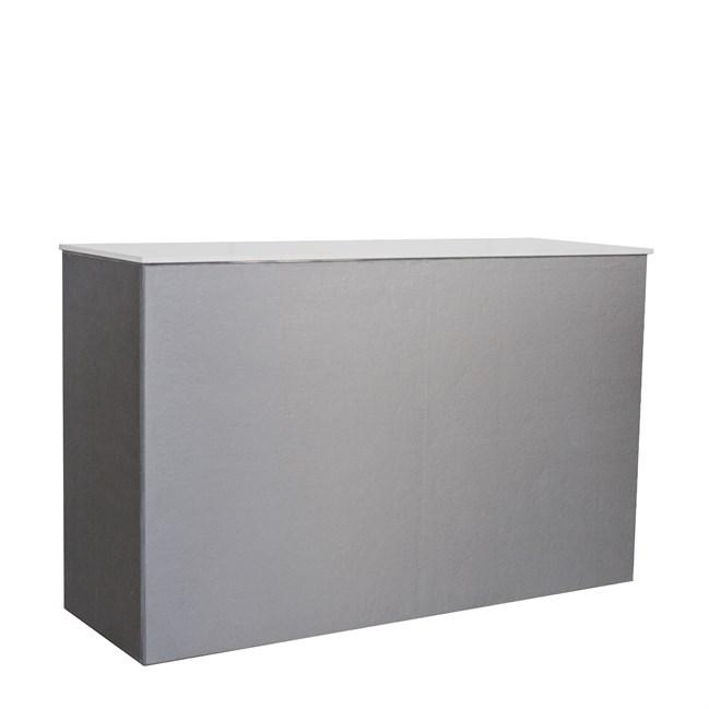 Chameleon High Bar - Silver Twill - White Top - 60 x 180 x 110cm H