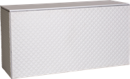 Food Station - White Quilted 60 x 180 x 90cm H