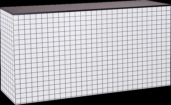 Chameleon Food Station - Black & White Grid