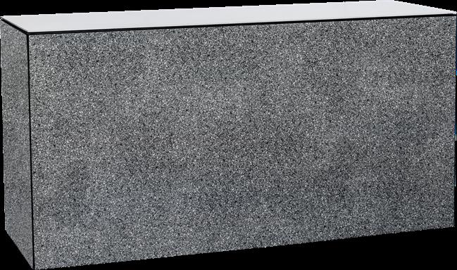 Chameleon Food Station - Black & White Fleck - White Top - 60 x 180 x 90 cm H