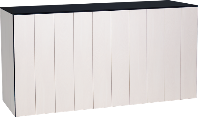 Chameleon Service Bar - White Slatted Timber