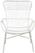 Como Highback  Armchair - White