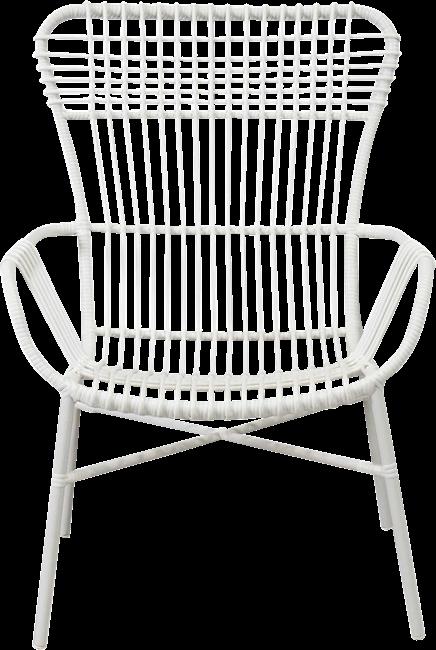 Como Highback  Armchair - White