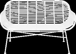 Como Lounge - White - White Legs