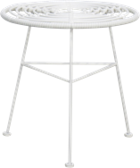Como Side Table - White Legs - White - 45cm Rnd