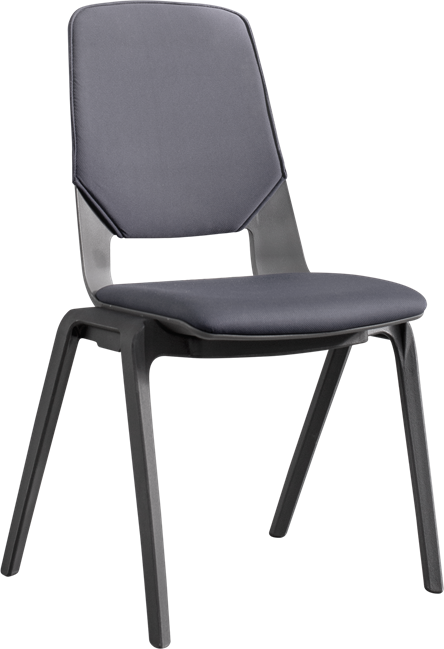 Connect Conference Chair - Padded Grey