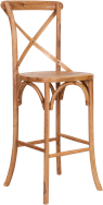 Cross Back Timber Stool
