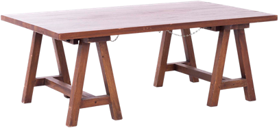 Carpenters Coffee Table - Timber - 75 x 120cm Rect
