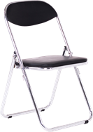 Chrome Padded Chair - Linkable