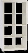 Cube Shelving Unit - White - 4x2