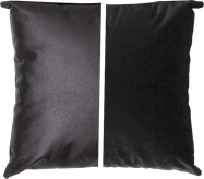 Duo Cushion - Black/Black - 45cm x 45cm