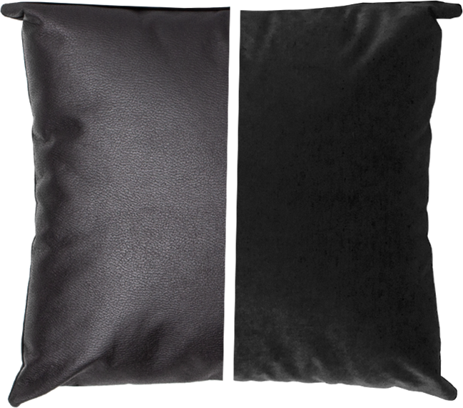 Duo Cushion - Black/Black - 45cm x 45cm