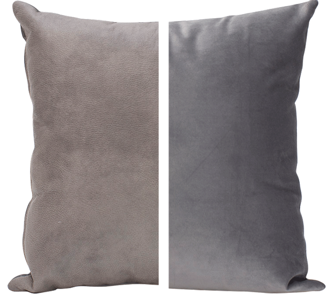 Duo Cushion - Grey/Grey - 45cm x 45cm