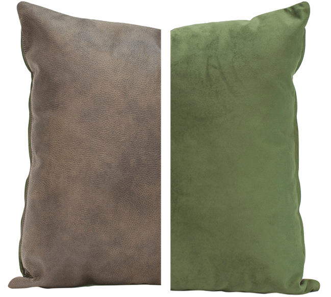 Duo Cushion - Olive/Olive - 45cm x 45cm