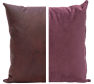 Duo Cushion - Plum/Plum - 45cm x 45cm